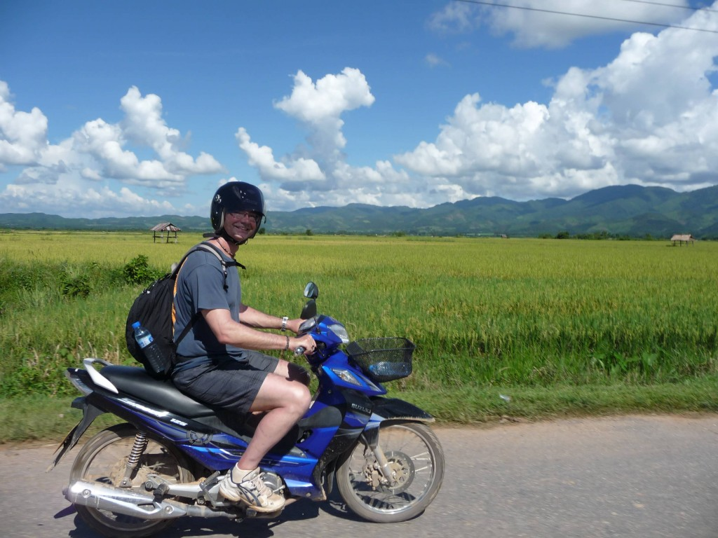 Riding home from Muang Sing, nothern Laos