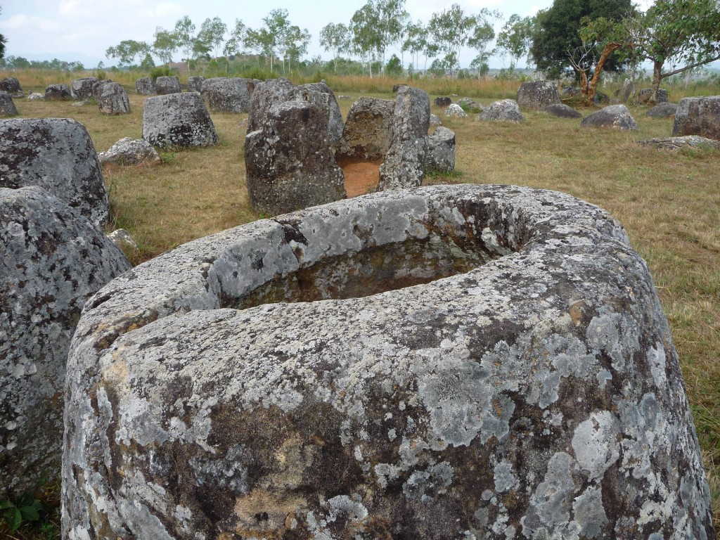 The mysterious Plain of Jars in Phonsovan, northern Laos