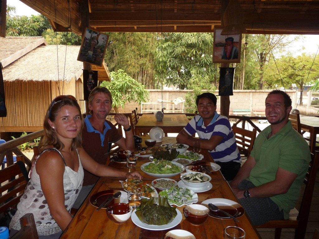 Feasting at Minority Restaurant with Phil and Abigail, Luang Namtha