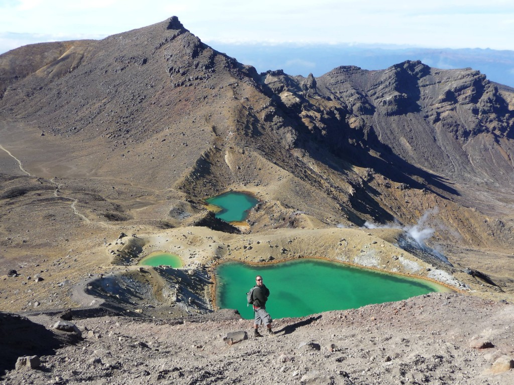 On the way down the Tongariro Crossing