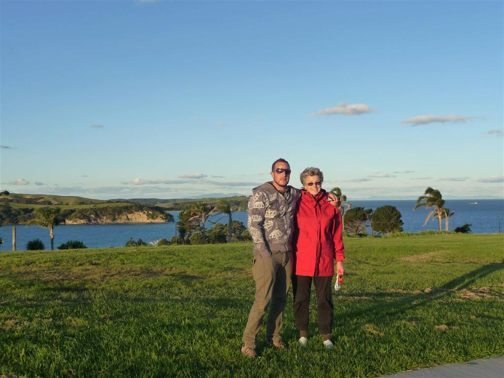 Gulf Harbour walk with Dre and his mum
