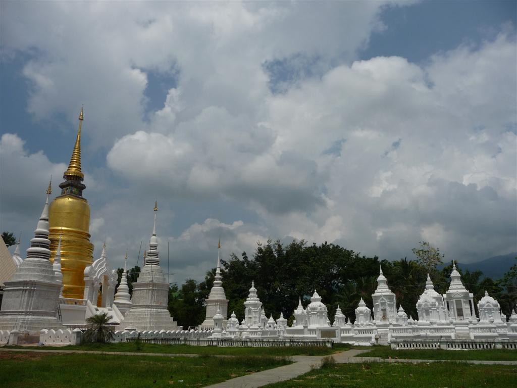 Chiang Mai temple stupas
