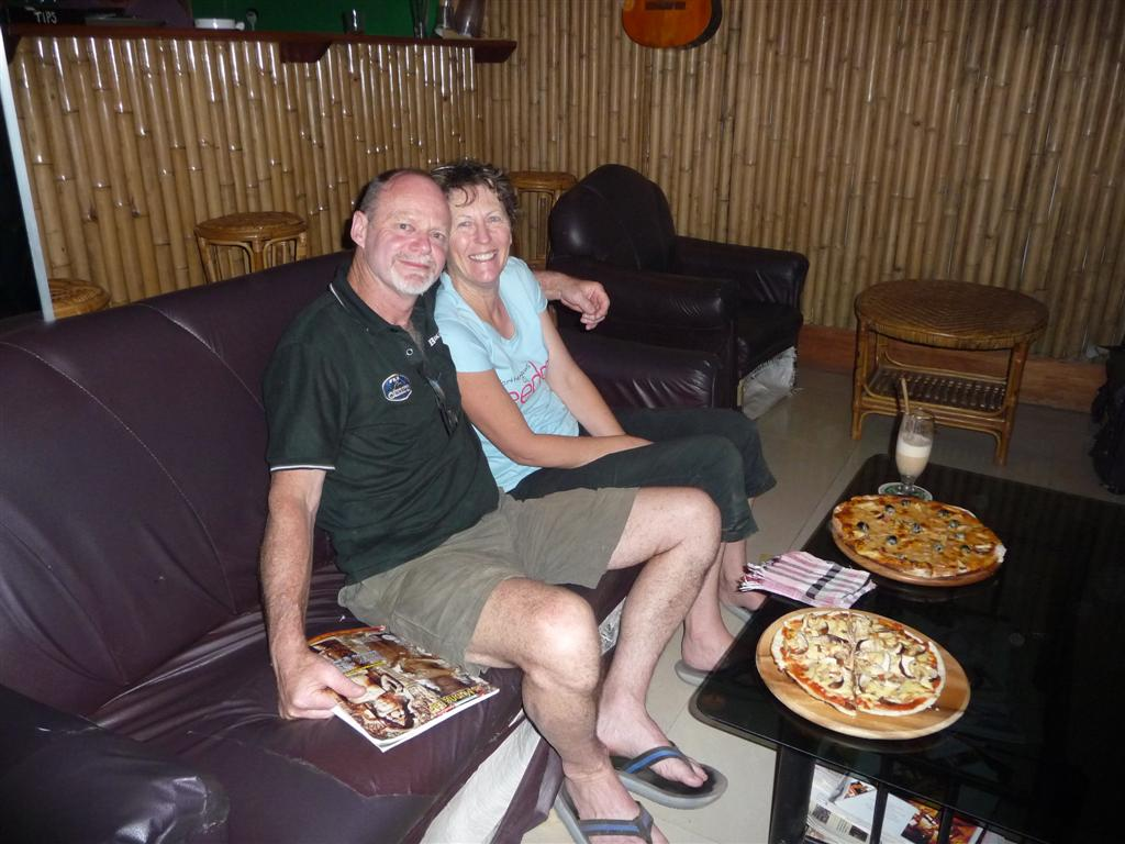 Pizza at Forest Retreat Laos!
