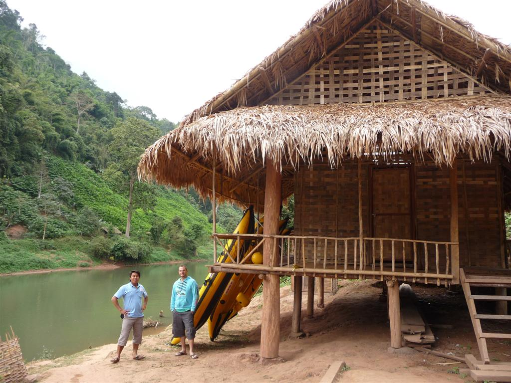 Ban Sin Oudom new hut on the Nam Tha river