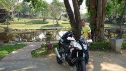 Honda CB500X and Tim