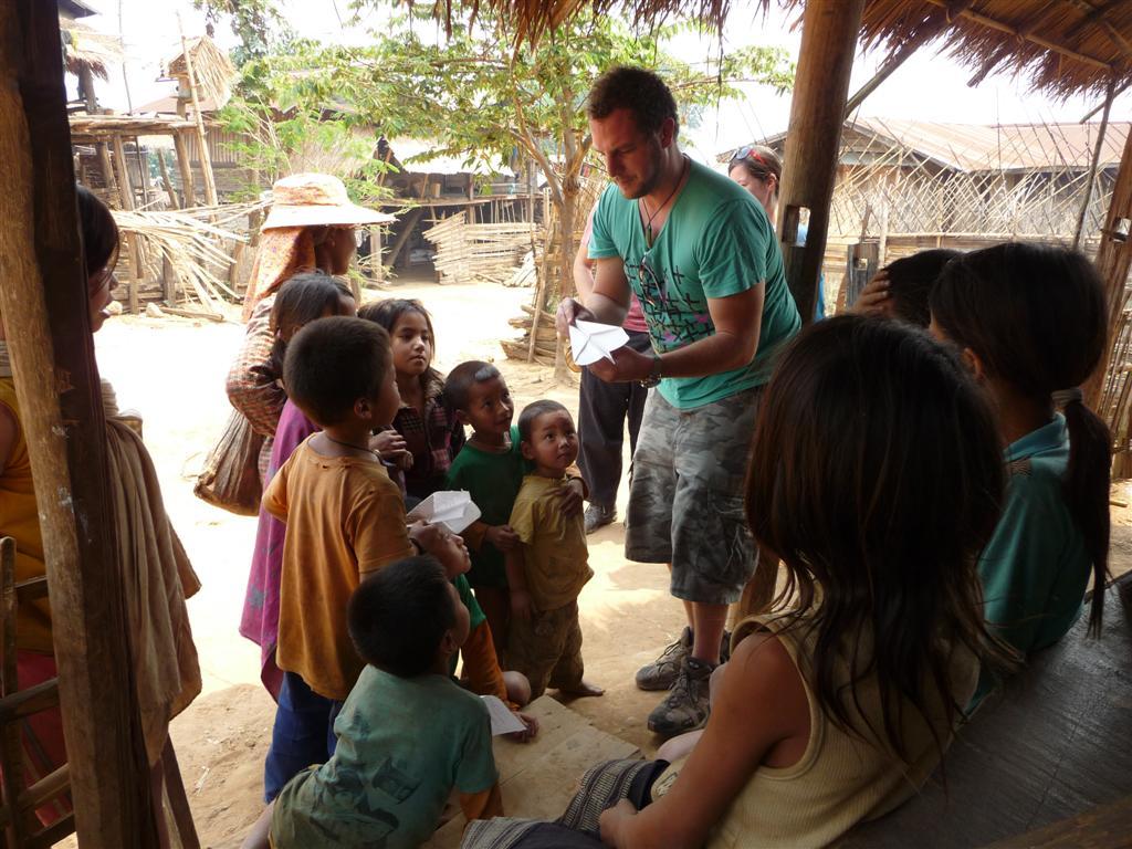 Dart making in an Ahka village, Muang Sing, Luang Namtha