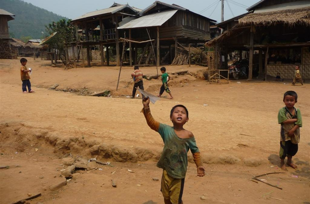 Ahka kids and their darts