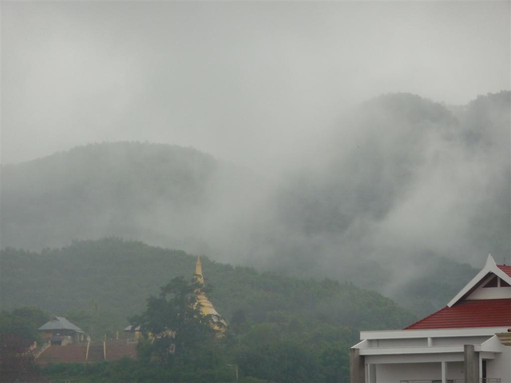 Temple at the start of Lent, Luang Namtha