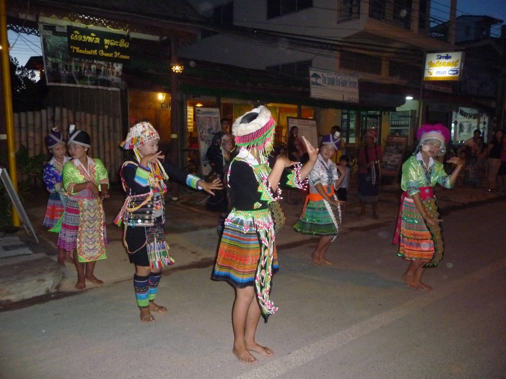 Hmong dance from Samakee school in Luang Namtha