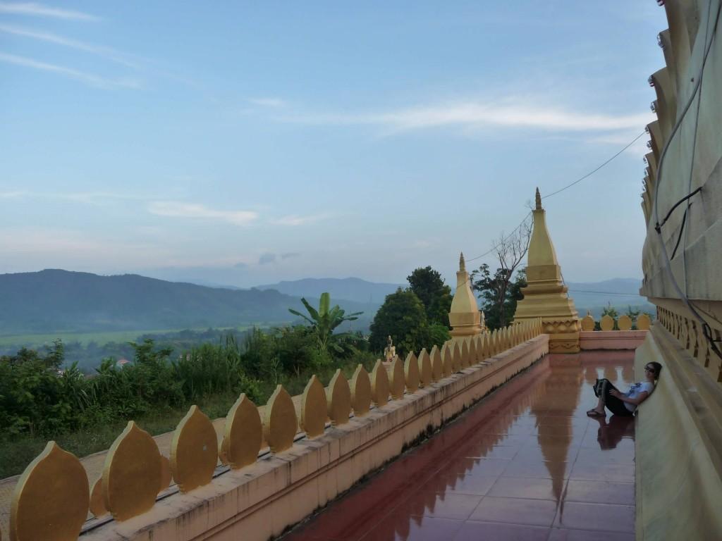 New Stupa looking over Luang Namtha