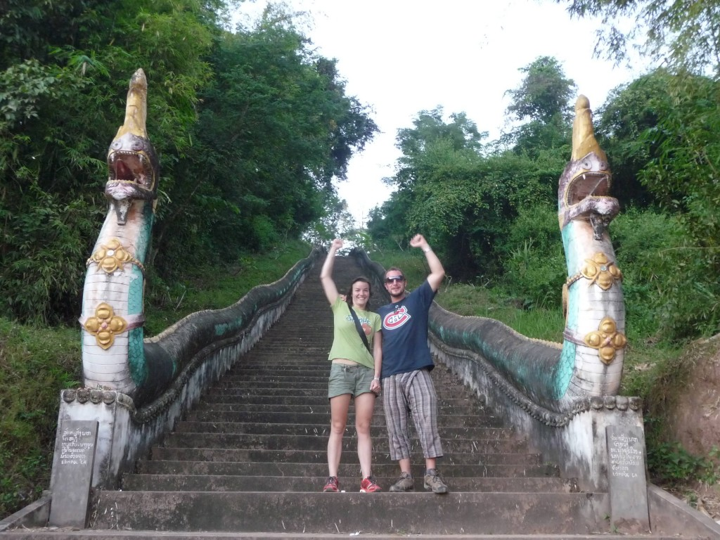 Old Stupa stairs in Luang Namtha
