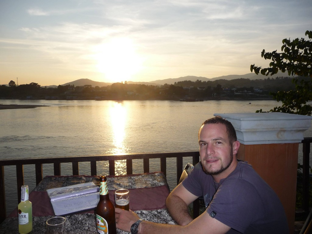 Mekong Sunset in Huay Xai