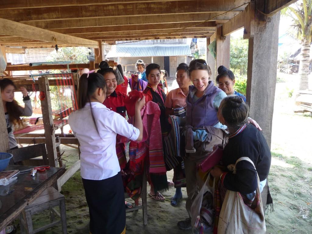 Tai Dam handicrafts, Muang Sing, Luang Namtha