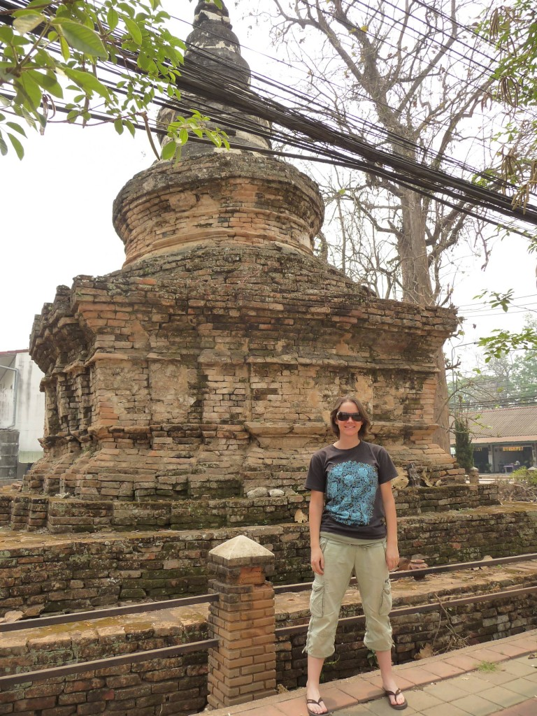 Old stupa in Chiang Saen