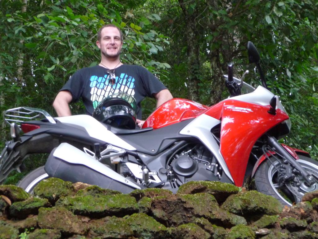 Riding CBR 250 around Chiang Mai