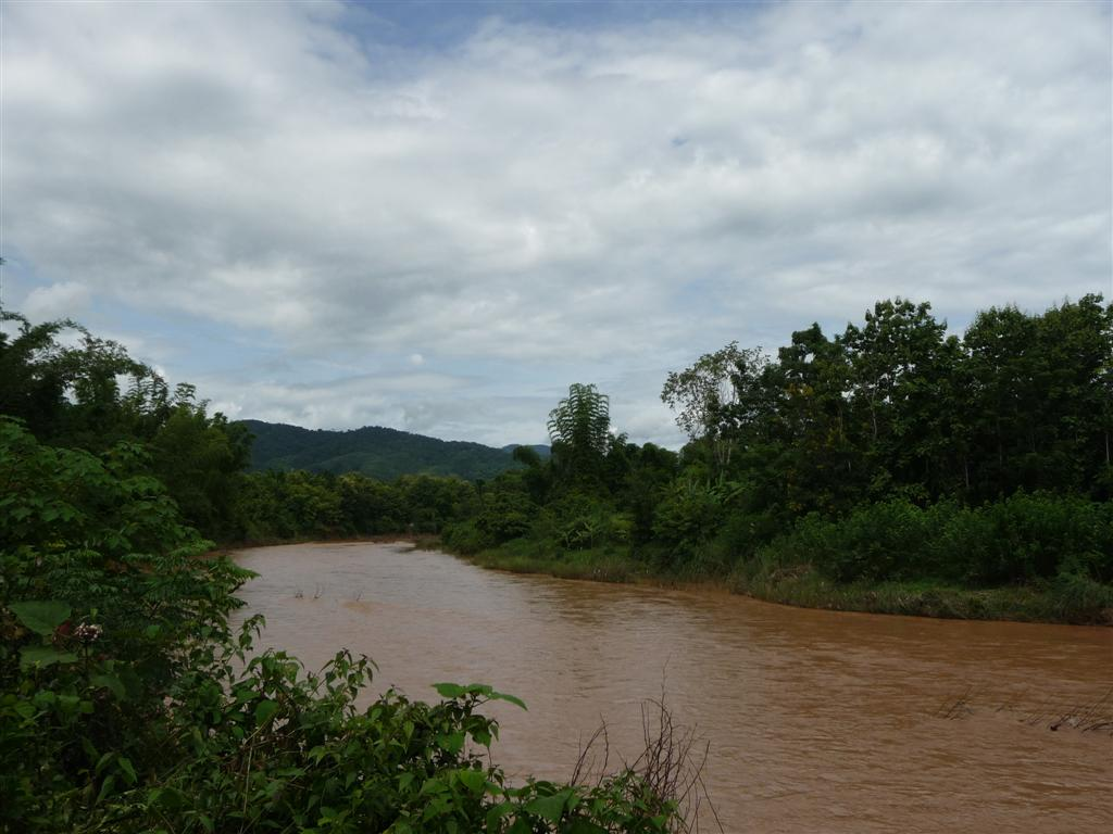 Nam Tha river running through Luang Namtha