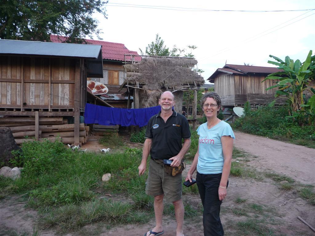 At a Tai Dam ethnic minority village in Luang Namtha