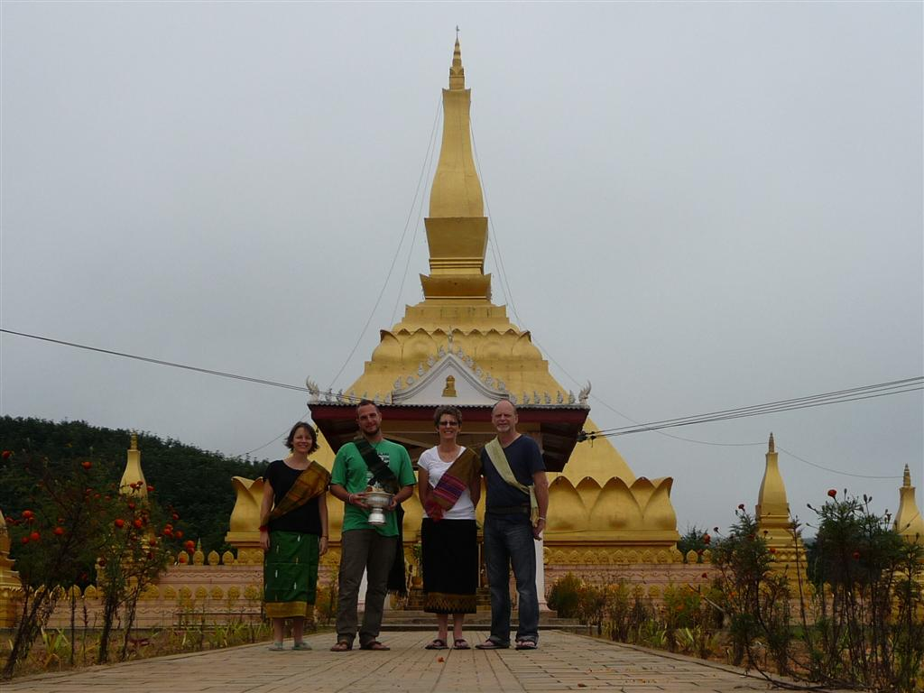 New Stupa at the end of Buddhist Lent Luang Namtha