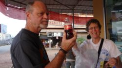 Muang sing drinking Chinese coca cola