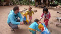 Tai Lue kids in Ban Sin Oudom