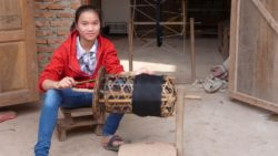Making cotton thread for weaving