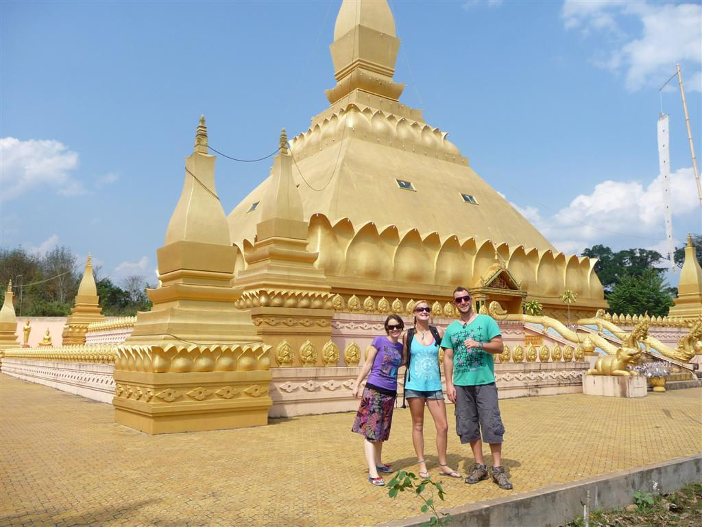 Luang Namtha's golden stupa