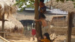 Life in ethnic minority village northern Laos