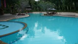 Swimming at resort