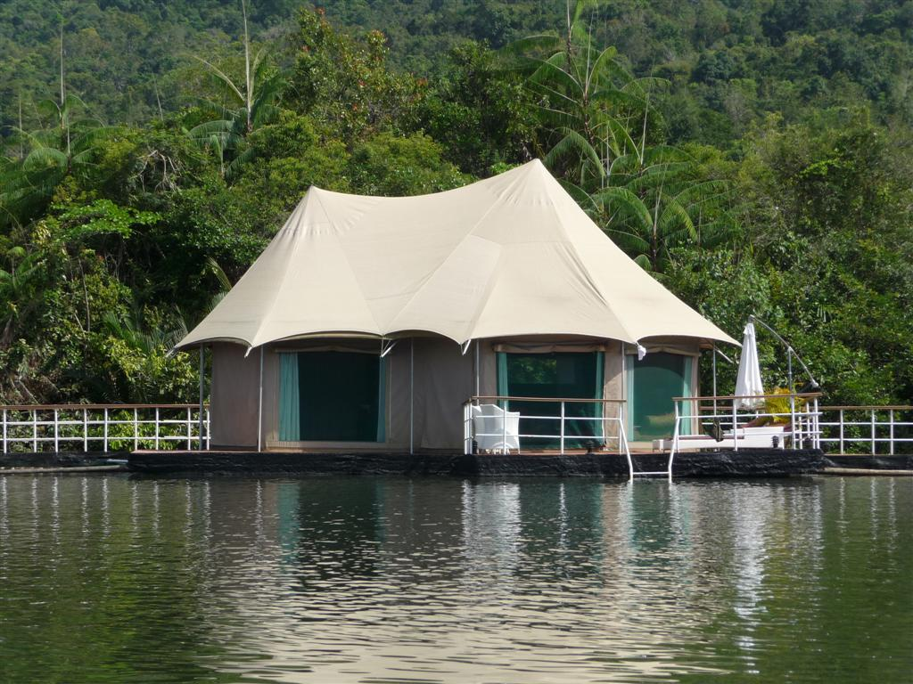Staying at the floating lodge